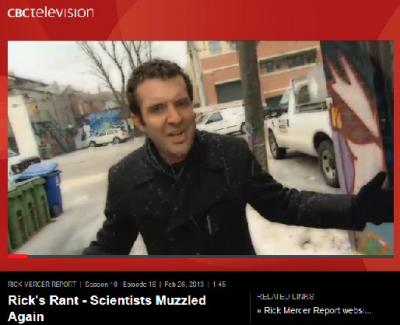 Rick Mercer Rant Scientists Muzzled Again