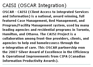 OSCAR - CAISI Integration